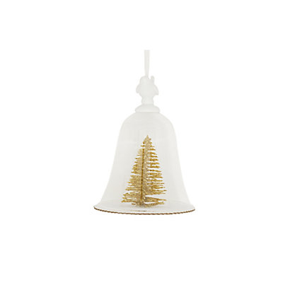 Image for Golden Glitter Tree Glass Dome Ornament from StoreName