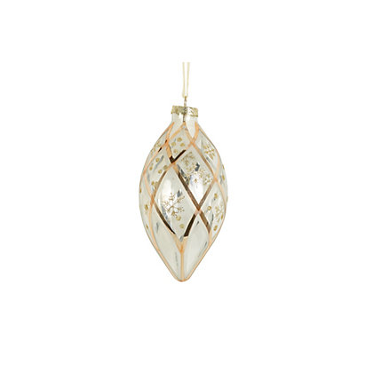 Image for Gold Pattern Glass Bauble from StoreName