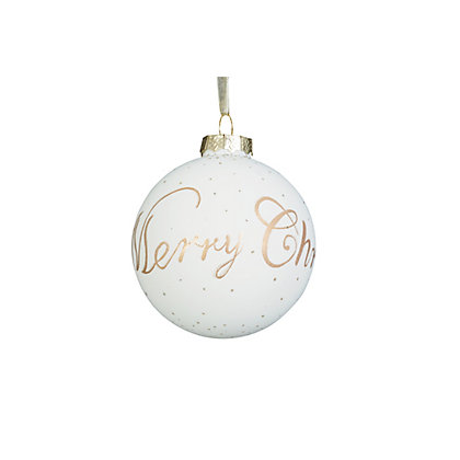 Image for Gold Merry Christmas Bauble from StoreName
