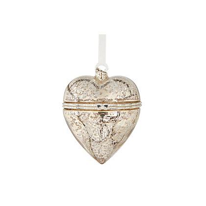 Image for Grandeur Glass Heart Trinket Bauble from StoreName