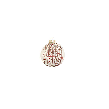 Image for Winter Berries Snow Filled Glass Bauble from StoreName