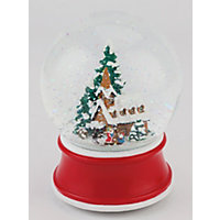 Large Musical Snowglobe with Church