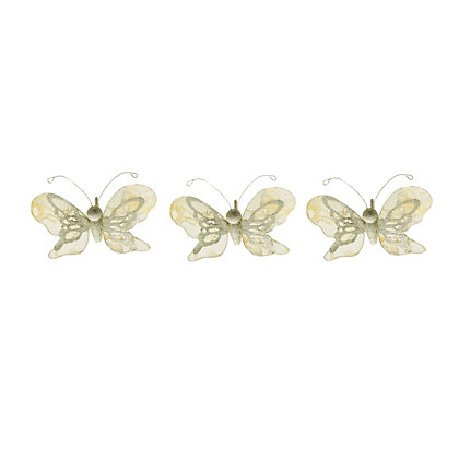 Image for Lace Butterflies Tree Decorations 3 pack from StoreName