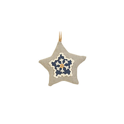 Image for Assorted Blue Fabric Tree Decorations from StoreName