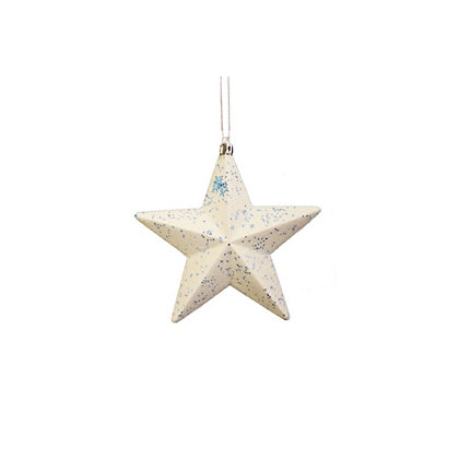 Image for White Stars with Blue Glitter 4 pack from StoreName