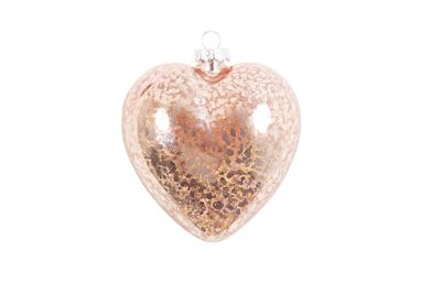 Image for Pink Glass Heart Tree Decoration from StoreName