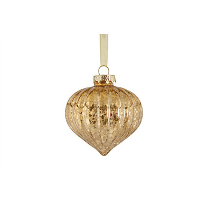 Image for Grandeur Gold Onion Glass Bauble from StoreName