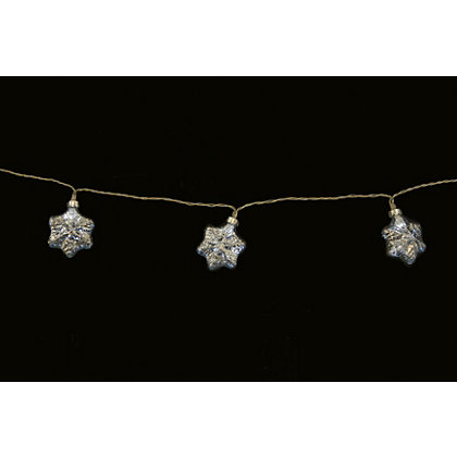 Image for 20 Shatterproof Snowflake String Lights from StoreName