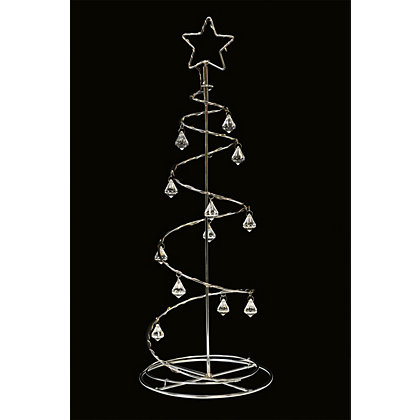 Image for Silver Spiral Tree Light from StoreName