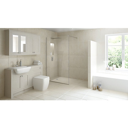 Image for Wetroom Kit with 800mm Straight Glass Panel & 1200mm Tray from StoreName