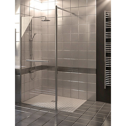 Image for Wetroom Kit with 900mm Straight Glass Panel, 350mm Rotating Pivot Panel & 900mm Tray from StoreName