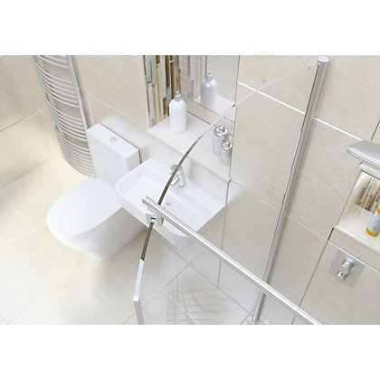 Image for Wetroom Kit with 1050mm Curved Glass Panel & 1400mm Tray from StoreName