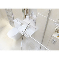 Wetroom Kit with 1050mm Curved Glass Panel & 1600mm Tray