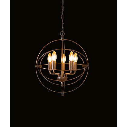 Image for Ophelia Distressed Globe Pendant Light from StoreName