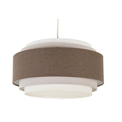 Image for Siena 5 Tier Easyfit Lamp Shade - Grey from StoreName