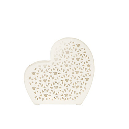 Image for Ceramic Heart Lamp from StoreName