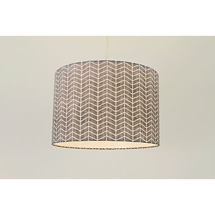 Image for Hadley 30cm Waved Geo Print Lamp Shade - Blue from StoreName