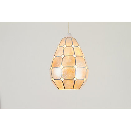 Image for Teardrop Capiz Pendant Lamp Shade from StoreName