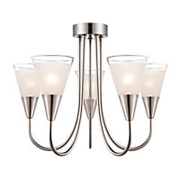 Regan 5 Light Glass Pendant