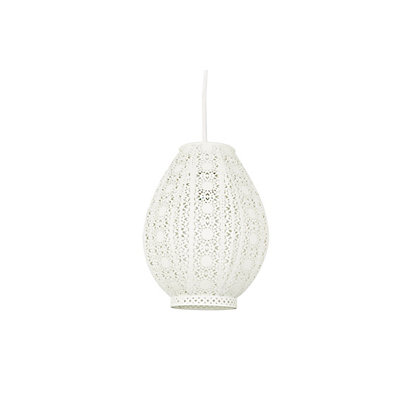 Image for Zahara Teardrop Cream Easyfit Lamp Shade from StoreName