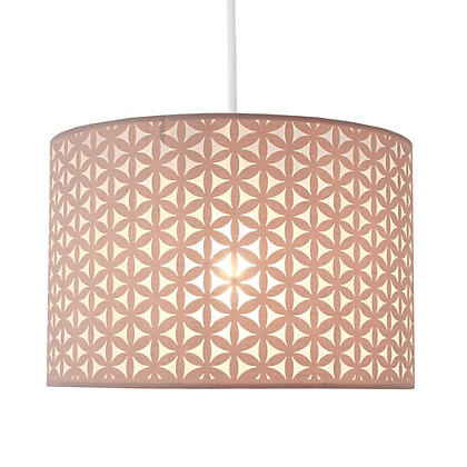 Image for Lucia 30cm Flower Lamp Shade - Grey from StoreName