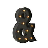 Metal Light Up Ampersand Sign