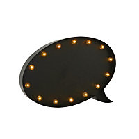 Metal Blackboard Speech bubble Light