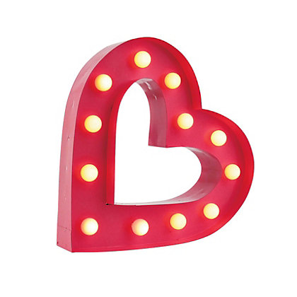 Image for Small Heart Marquee Light from StoreName