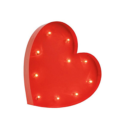 Image for Red Heart Marquee Light from StoreName