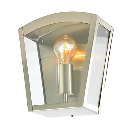 Image for Modern Stainless Steel Box Lantern from StoreName