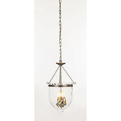 Image for Mika Antique Brass Hundi Pendant Light from StoreName
