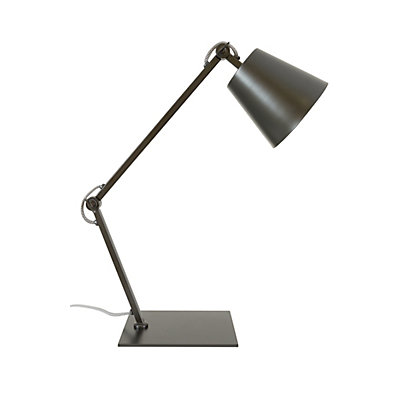 Image for Nathaniel Black Square Base Desk Lamp from StoreName