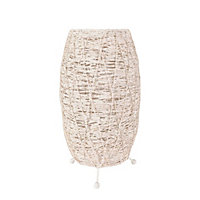 Abaca Table Lamp - White