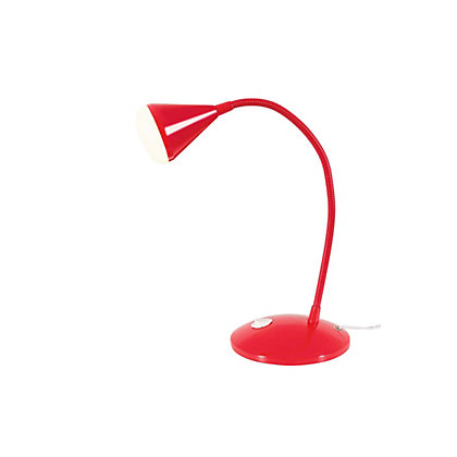 Image for Callum Integrated LED Adjustable Desk Lamp - Red from StoreName