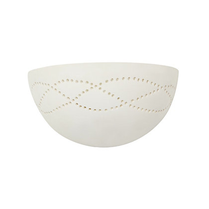 Image for Morris Punched Ceramic Wall Light from StoreName
