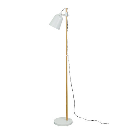 Image for Tall Dove Grey Floor Lamp from StoreName
