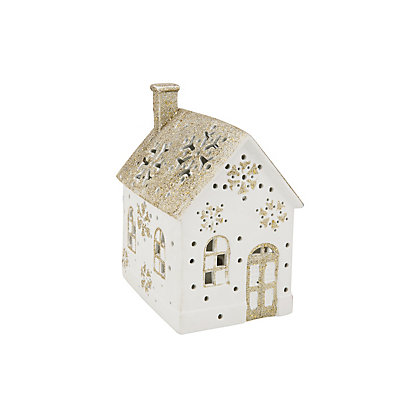 Image for Glittered House with LEDs from StoreName