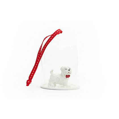 Image for Homespun Glass Cloche with Westie Terrier from StoreName