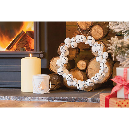 Image for White Bells Christmas Wreath from StoreName