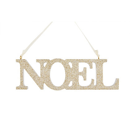 Image for Grandeur Wooden Glitter Noel Tree Decoration from StoreName