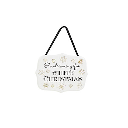 Image for White Christmas Wooden Sign from StoreName