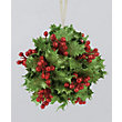 Glitter Holly and Berries Tree Decoration