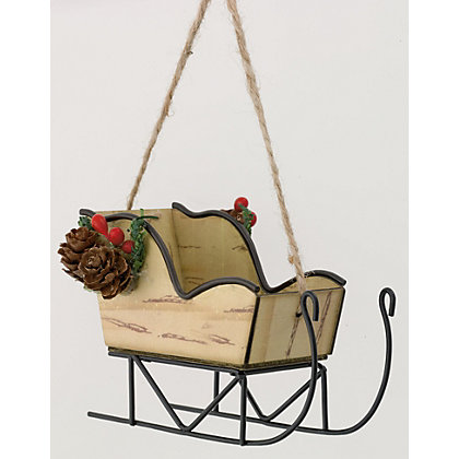 Image for Hanging Sleigh Decoration from StoreName