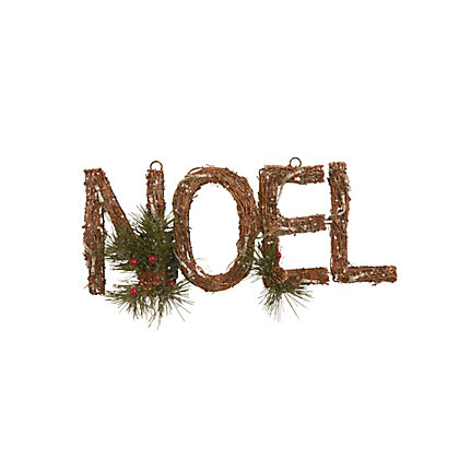 Image for Rattan Noel Sign with LEDs from StoreName