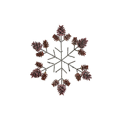Image for Glitter Snowflake With Pinecone Tips from StoreName