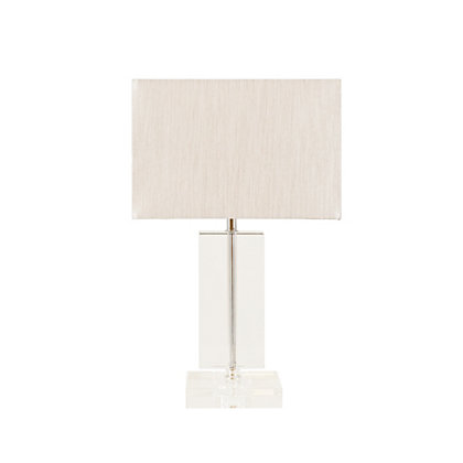 Image for Olivia Flat Glass Column Table Lamp from StoreName