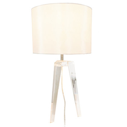 Image for Trinity Glass Tripod Table Lamp from StoreName