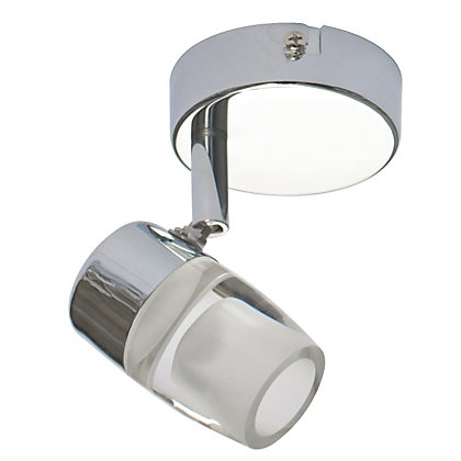 Image for Integrated LED Frosted Glass Single Spotlight from StoreName