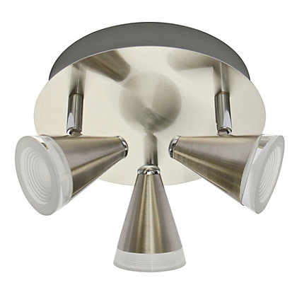 Image for Tanner Integrated LED Cone 3 Plate Spotlight from StoreName