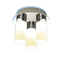 Hatton Glass Cylinder 3 Light Bathroom
